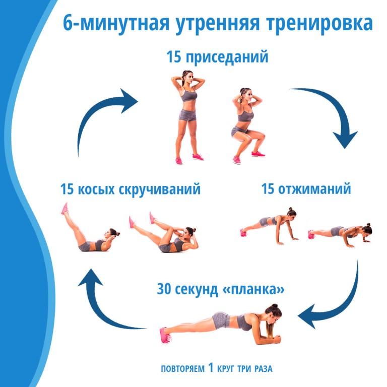 Легкие зарядки для похудения