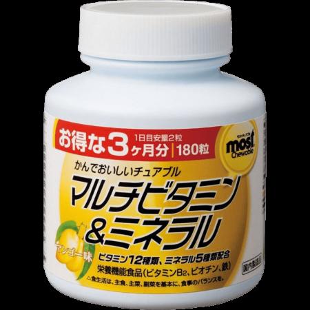 Фото Мультивитамины и минералы со вкусом манго Орихиро