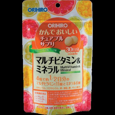Фото БАД Мультивитамины и минералы со вкусом тропических фруктов Орихиро